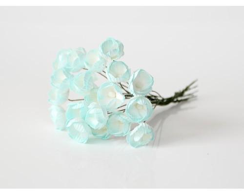 Лютики Светло-голубые с белым, 5 шт.