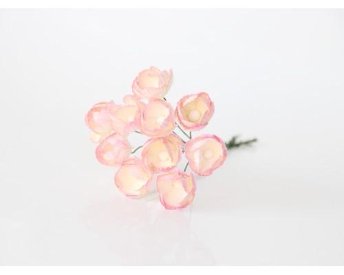 Лютики Светло розовые с молочным, 5 шт.