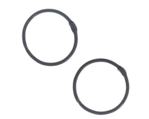 Кольца черные 3 см.  2 шт.