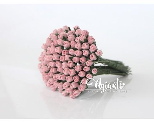 Бутоны роз мини Розовоперсиковые, 10 шт