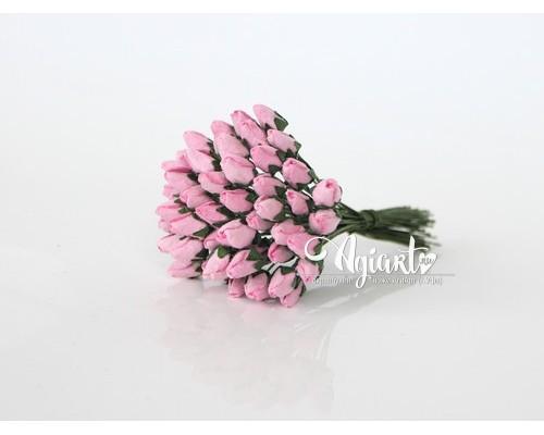 Бутоны средние закрытые розовые, 10 шт