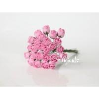 Бутоны крупные розовые, 5 шт