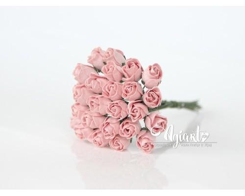 Бутоны крупные розово-персиковые, 5 шт
