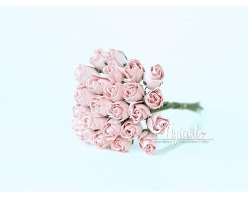 Бутоны крупные розово-персиковые светлые, 5 шт