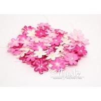 Набор цветов 2 см: розовое ассорти, 20 шт.