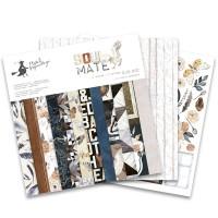 """Набор бумаги """"Soulmate"""" 30.5 х 30.5 см 6 листов, 1/2 полного набора, P13"""