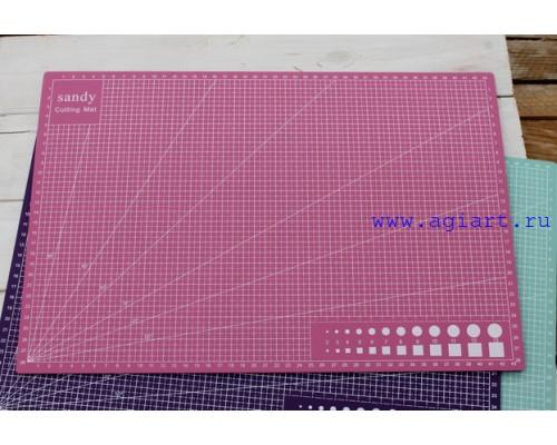 """Коврик (мат) для резки """"Розовый"""" А3 - 45*30 см."""