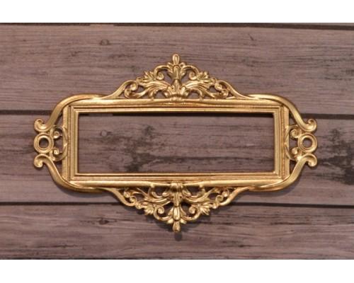 Металлическая рамка для записей №3 золото, Просвет