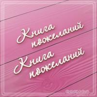 "Чипборд ""Книга пожеланий"" 2 элемента, СкрапМагия"