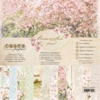 """Набор бумаги """"Вишнёвый сад"""" 20*20 см Craft paper, 8 листов"""
