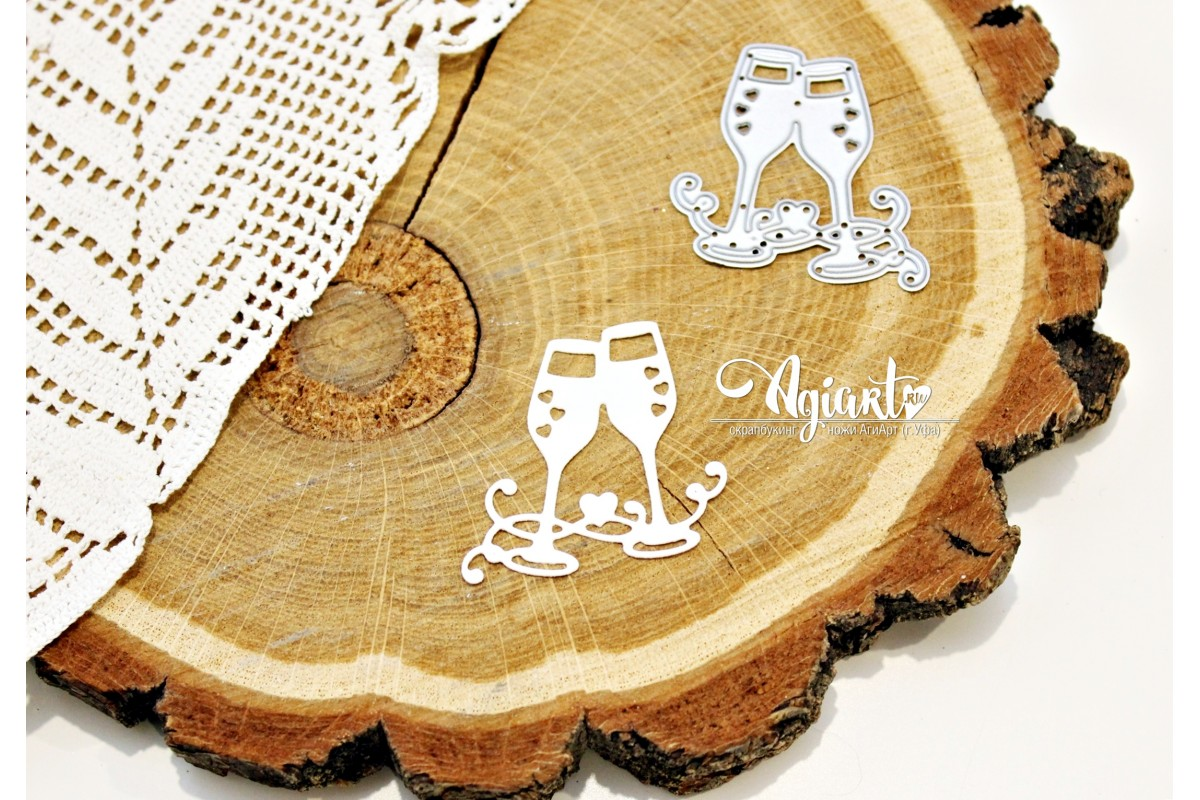 """Нож для вырубки """"Свадебные бокалы"""" от AgiArt"""