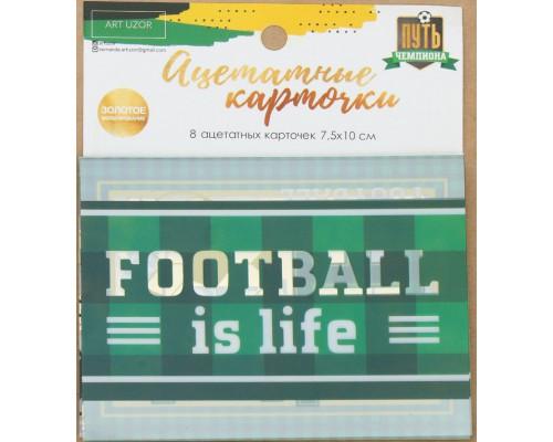 """Набор ацетатных карточек для скрапбукинга """"Путь чемпиона"""", 10 × 11 см Артузор"""