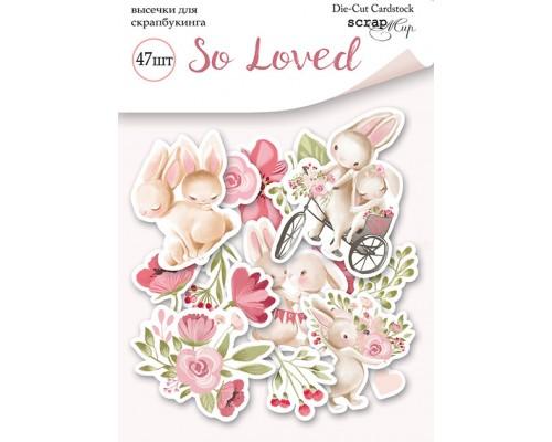 """Высечки бумажные """"So loved"""" 47шт., Scrapmir"""
