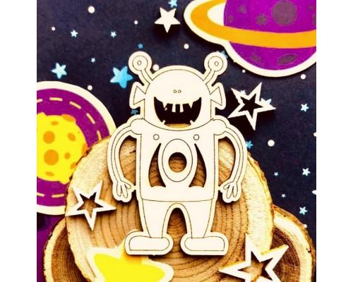 """Чипборд """"Инопланетянин Боб"""", Wood Home"""