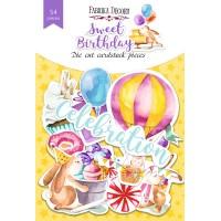 "Набор высечек ""sweet birthday"" 54 шт"