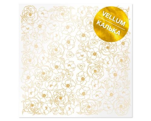 """Ацетатный лист с фольгированием """"Golden Pion"""" 30.5*30.5 cm"""