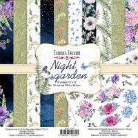 """Набор скрапбумаги """"Night garden"""",30,5*30,5 см, Фабрика Декору"""