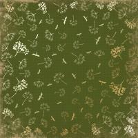 """Лист фольгированной бумаги  """"Golden Dill Botany summer Green"""" Фабрика Декору"""