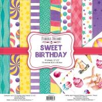"""Набор двусторонней бумаги """"Sweet Birthday"""", 30 Х 30 см, Фабрика Декору"""