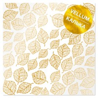 """Калька с фольгированием """"Golden Leaves"""" 30.5*30.5 cm"""
