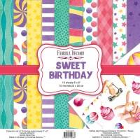 """Набор двусторонней бумаги """"Sweet Birthday"""", 20 Х 20 см, Фабрика Декору"""