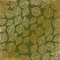 """Лист фольгированной бумаги  """"Golden delicate leaves botany summer 1"""" Фабрика Декору"""