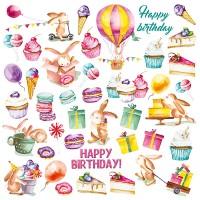 "Лист с картинками для вырезания ""Sweet Birthday"" Фабрика Декору"