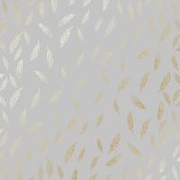 """Лист фольгированной бумаги для скрапбукинга """"Golden Feather Gray"""" Фабрика Декору"""