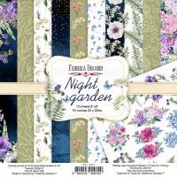 """Набор скрапбумаги """"Night garden"""", 20 Х 20 см, Фабрика Декору"""