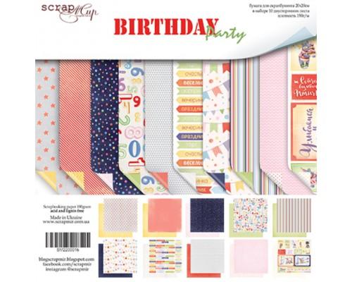 """Набор бумаги 20*20 """"Birthday Party"""" 10 листов ScrapМир"""