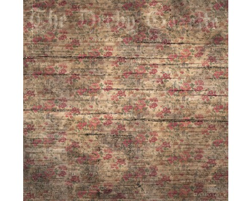 """Бумага односторонняя """"Так подсказывает сердце """"Полевые цветы"""""""" Mona Design"""