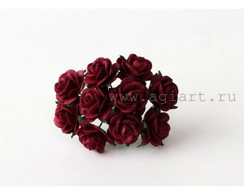 """розы """"Ягодные"""" 1,5 см, 10шт."""