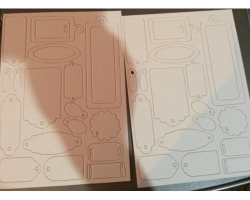 Набор рамок из чипборда-Тэги CraftPremier