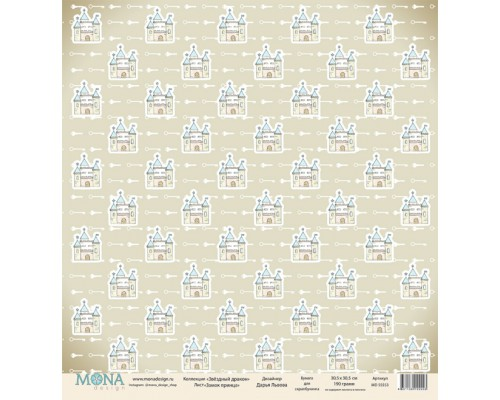 """Бумага односторонняя Коллекция """"Звездный дракон"""" Mona Design"""