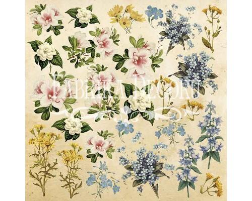 """Лист для вырезания. Набор №1 """"Botany summer"""" Фабрика Декору"""