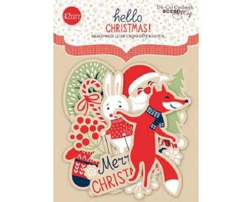 "Высечки бумажные ""Hello Christmas"" Scrapmir"