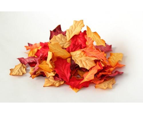 Листья остролиста микс красный, 4*2,5 см, 10шт