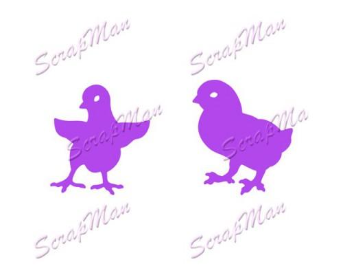 Нож для вырубки  Chickens (Цыплята) Scrapmаn