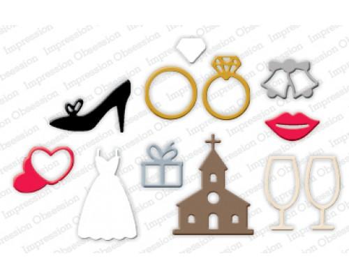 """Ножи для вырубки """"Wedding Icons"""" Iostamps"""