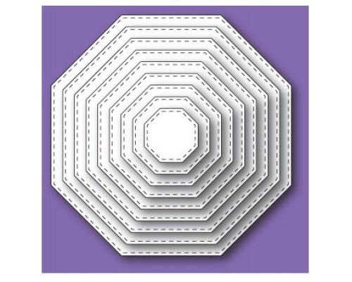 """Форма для вырубки """"Stitched Octagon Layers"""" Memorybox"""