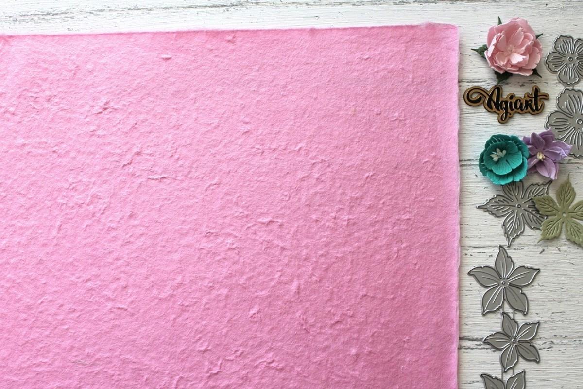 """Тутовая бумага (Mulberry) цвет """"Розовый"""", 27*39 см."""