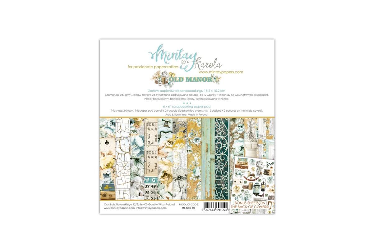 "Набор бумаги ""Old Manor"" 15,2 х 15,2 см, 24 листа, Mintay paper"