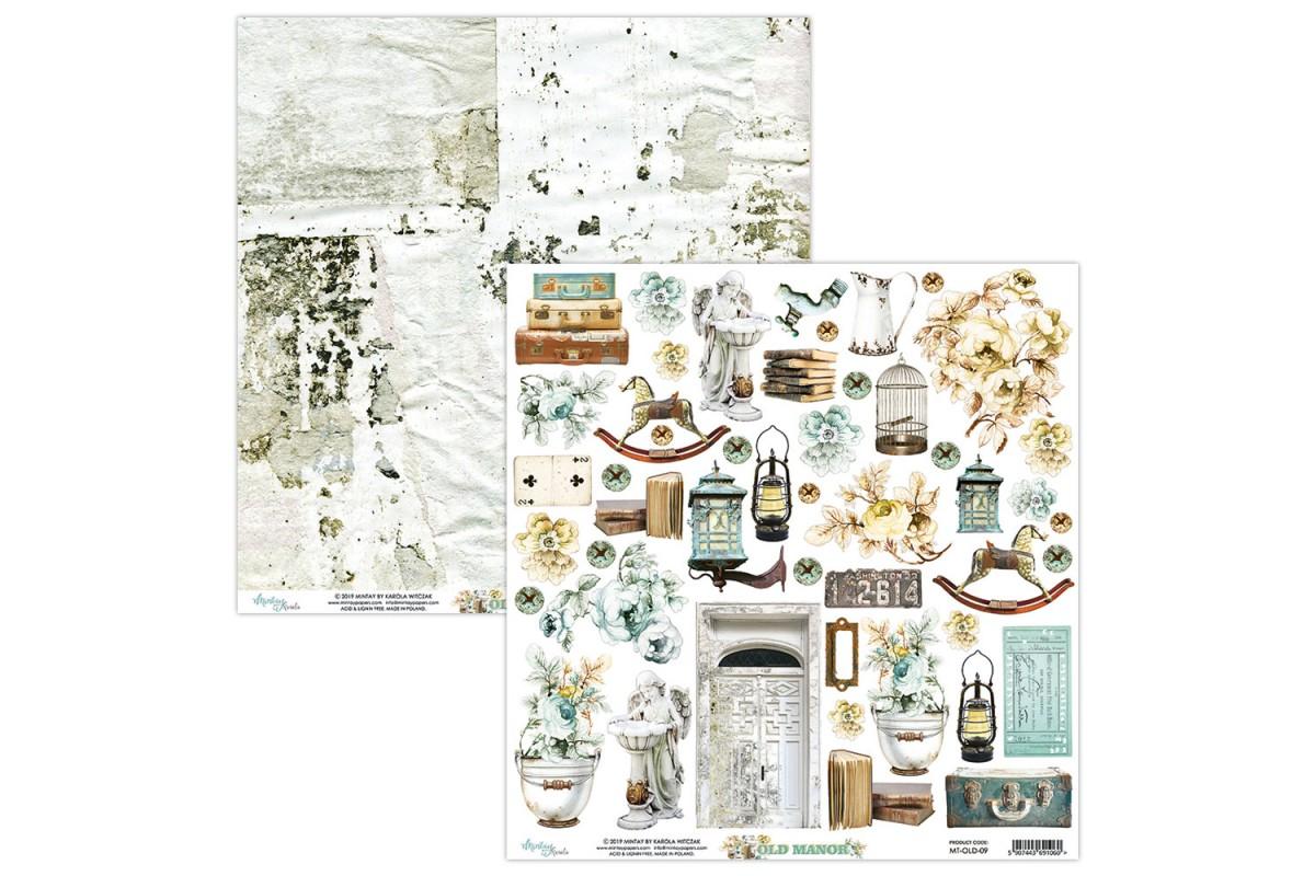 """Бумага двусторонняя коллекция """"Old Manor"""" 30.5 х 30.5 см., Mintay paper"""