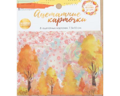 """Набор ацетатных карточек для скрапбукинга """"Мои осенние грёзы"""", 10 × 11 см Артузор"""