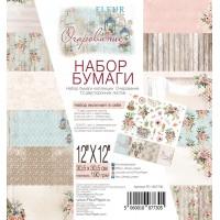 """Набор бумаги """"Очарование"""" 30,5х30,5, 12 двусторонних листов, FLEUR-design"""
