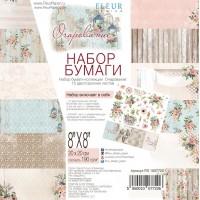 """Набор бумаги """"Очарование"""" 20х20см, 12 двусторонних листов, FLEUR-design"""