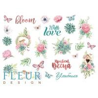 """Лист для вырезания, коллекция """"Дыхание весны"""", формат А4, FLEUR-design"""