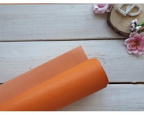 Кожзам, Оранжевый 33*70 см. Италия