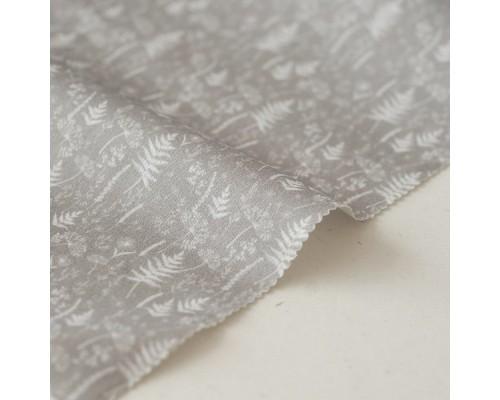 Отрез ткани «Травы на сером» Forest story, 40х50 см., Impressio Design