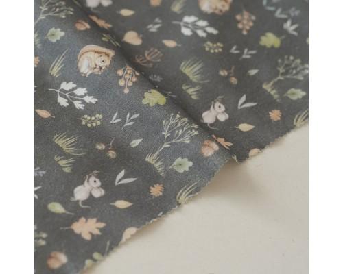 Отрез ткани «Осенний лес на сером» Forest story, 40х50 см., Impressio Design